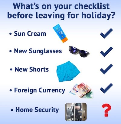 CSS holiday home security checklist